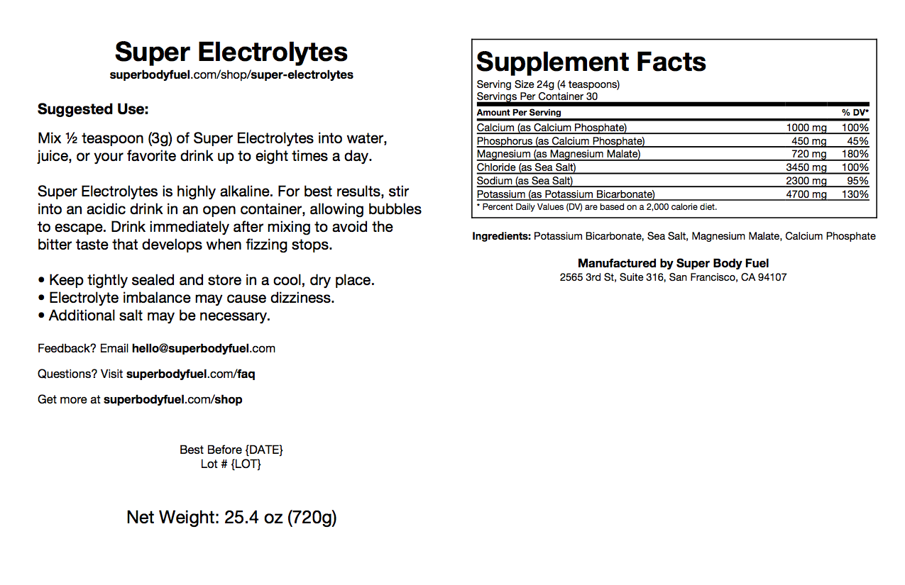 Super Electrolytes now available